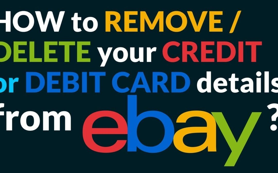 remove credit card from eBay