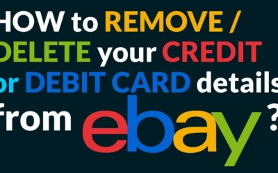 How to remove credit card from eBay
